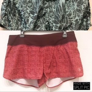 2 MPG SHORTS L TEAL AND RED